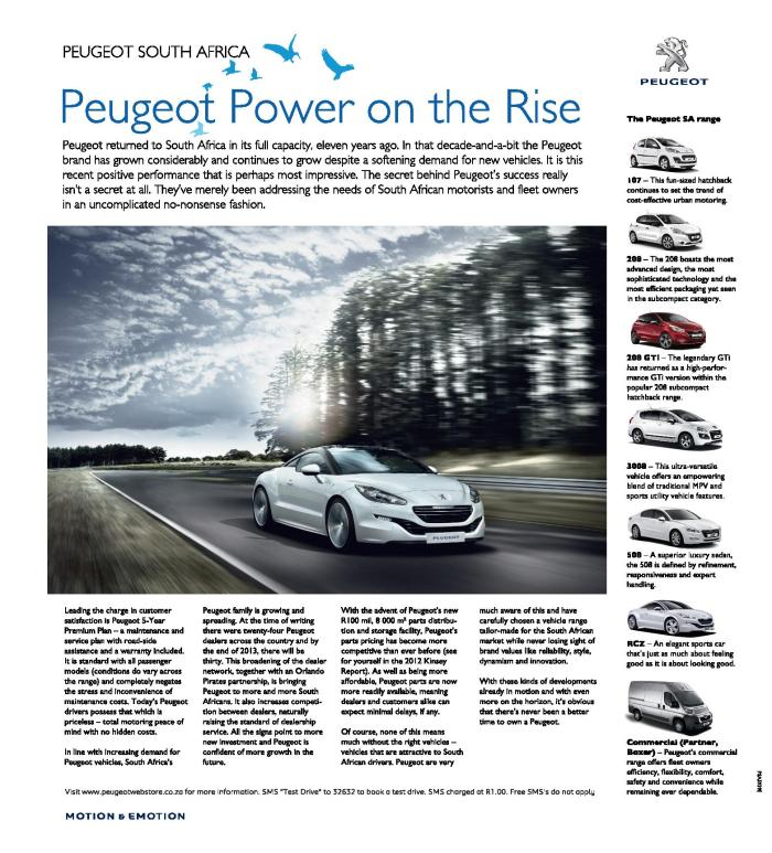 Peugeot Power on the Rise